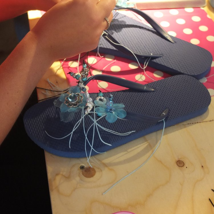 Workshop Strandtassen Maken : Work teenslippers pimpen kralenhandel